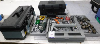 Part Socket Set, Quantity of Hand Tools & Two Tool Boxes (Location: Hatfield - See General Notes for