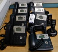Eight Yealink HD Telephone Handsets & Two Rechargeable Phones (Location: Hatfield - See General