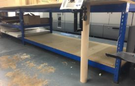Two Slotted Steel Packing/Work Benches, 350cm x 95cm (Location: Hatfield - See General Notes for