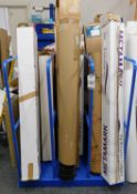 3-Section Tubular Metal Vertical Stand (Excluding Contents) (Location: Hatfield - See General
