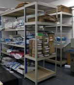 Three Various Boltless Steel Racks, 3,4 & 5-Tier (Excluding Contents & Collection After 12noon) (