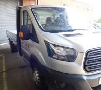FORD TRANSIT 350 L4 FWD, 2.0 TDCi 130ps Dropside Lorry, Registration YR67 ORU, First Registered 30th