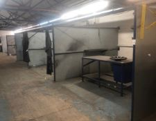 Metal Framed 4-Section Welding Bays (Location: Kettering - See General Notes for Details)