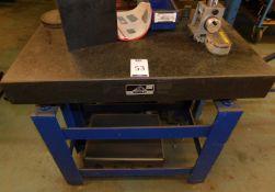 Crown Windley Grade 1 Granite Surface Table 3' x 2', Serial Number 52283, on Metal Stand (
