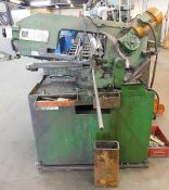 R300 Horizontal Bandsaw (repair to body), Serial Number 168212, with Conveyor Feed (approx 22') &