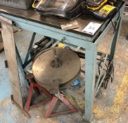 """Steel Surface Table on Stand 2' 6"""" x 2' (Excluding Contents) (Location: Kettering - See General"""