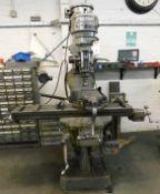 Bridgeport Turret Milling Machine Head Serial Number JB2556 with Topaz Model TM211000 DRO, Serial