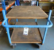 Metal Framed 2-Tier Trolley & Four Benches (Location: Kettering - See General Notes for Details)