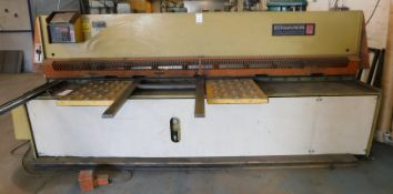Edwards Pearson Model GM 6.5mm x 3080 Hydraulic Guillotine, Serial Number 90G351 with Swissax DRO (