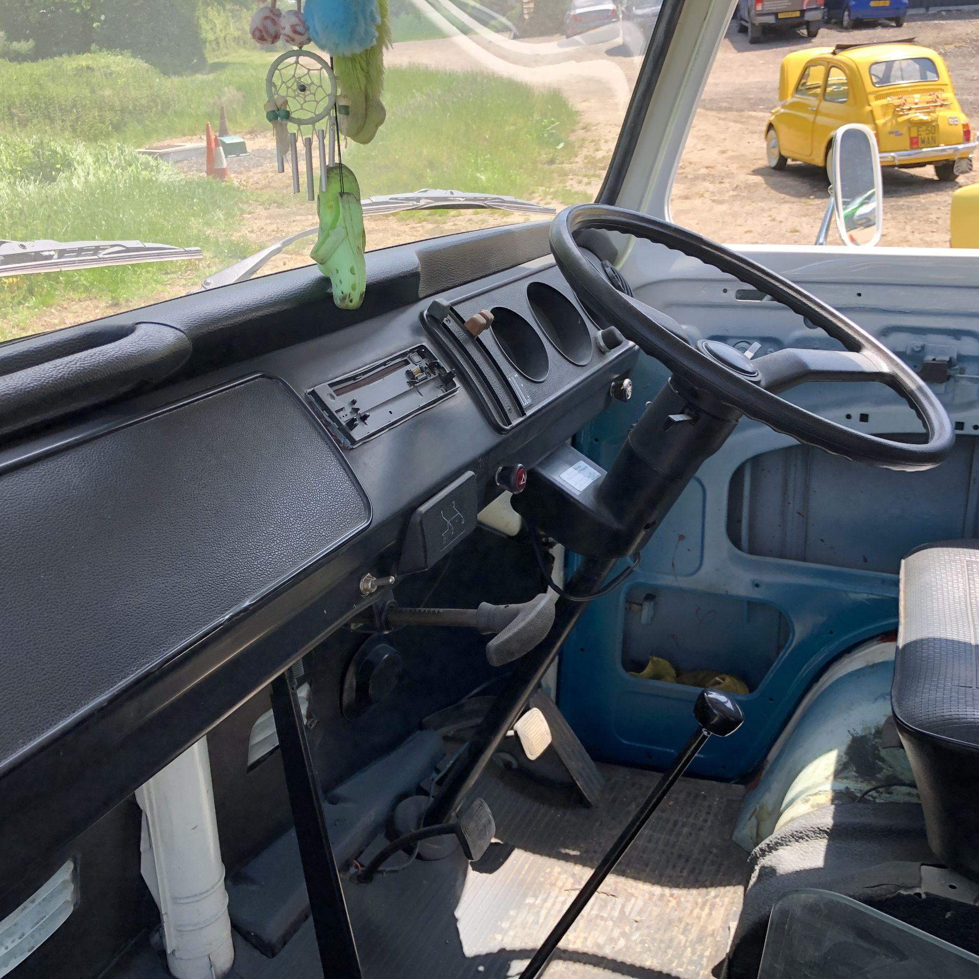 VW Microbus 8 Seater Caravanette Devon - 'Mr Blue' Petrol, Registration UMH 420S, First Registered - Image 42 of 47