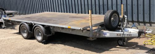 Ifor Williams Type 2CB LM146G Twin Axle Flat Trailer (2017), Serial Number 05142199, GVW 3500Kg; 14'