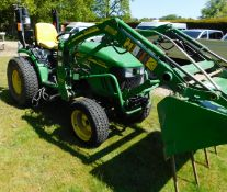 John Deere 2520 Compact Tractor, AU60 DDV, First Registered 6th January 2011, 770 Hours with Spare