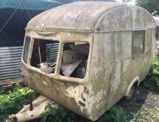 Cheltenham Fawn Classic Caravan For Restoration (c. Late 1960s) 11ft Body Length, Originally 2 Berth