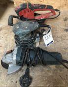Einhell TE-RS 40E Random Orbital Sander, Erbauer 243W Palm Sander & Bosch GWS710 Angle Grinder,