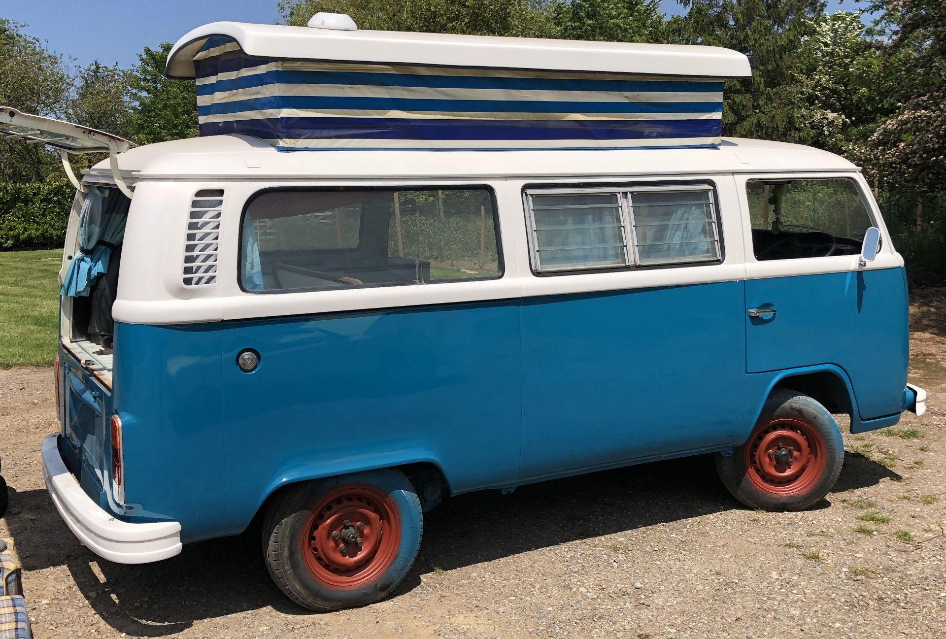 VW Microbus 8 Seater Caravanette Devon - 'Mr Blue' Petrol, Registration UMH 420S, First Registered - Image 10 of 47