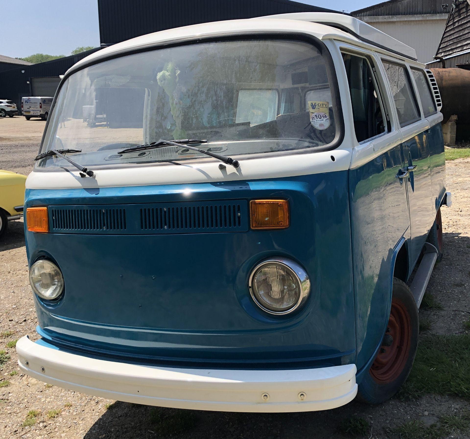 VW Microbus 8 Seater Caravanette Devon - 'Mr Blue' Petrol, Registration UMH 420S, First Registered - Image 4 of 47