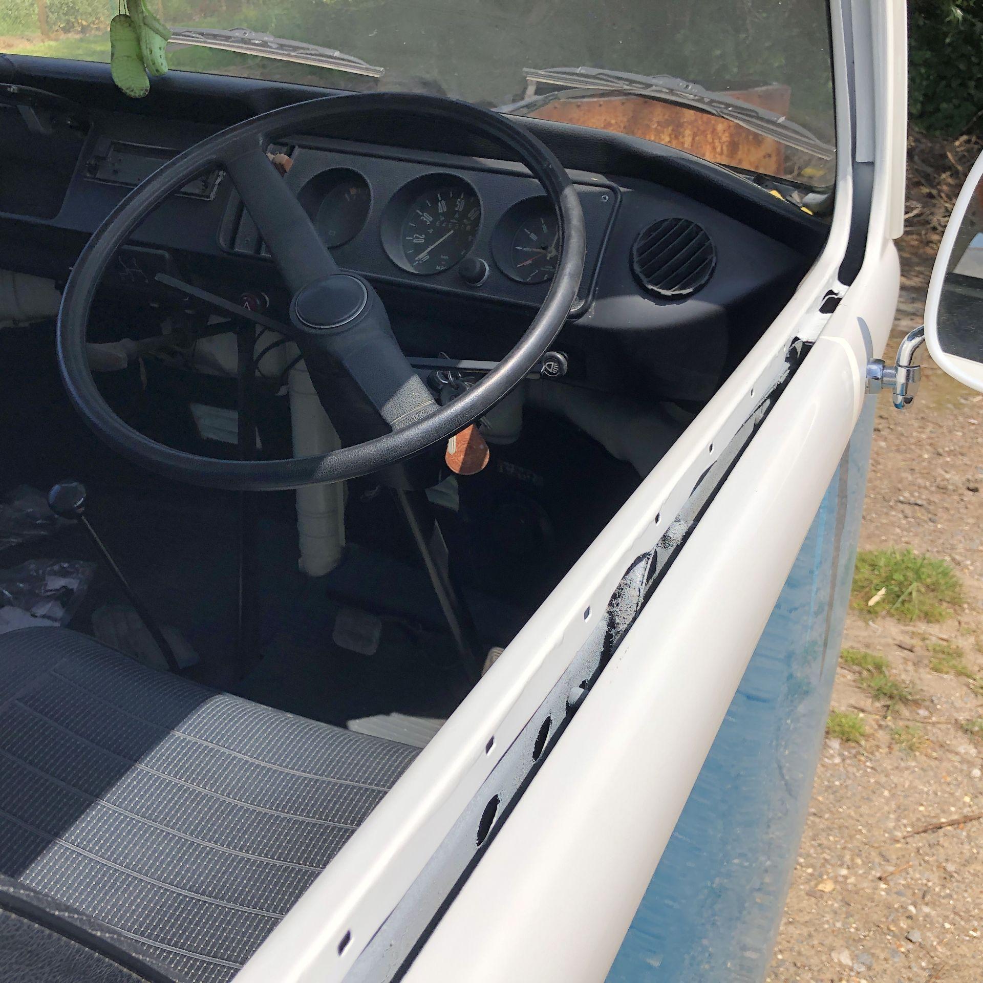 VW Microbus 8 Seater Caravanette Devon - 'Mr Blue' Petrol, Registration UMH 420S, First Registered - Image 36 of 47
