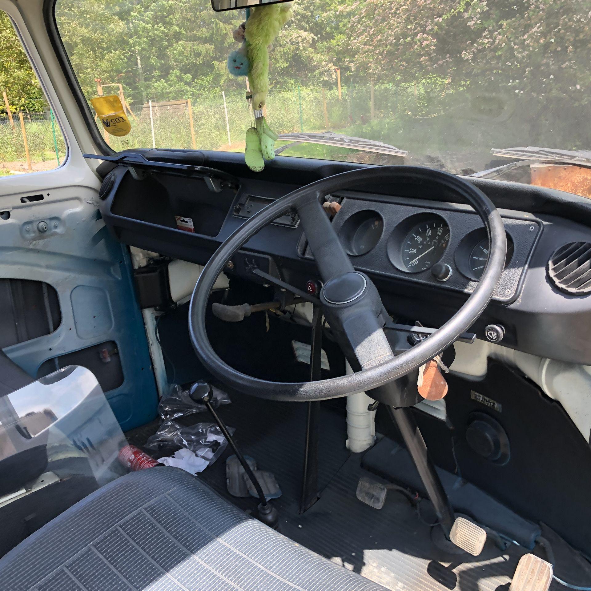 VW Microbus 8 Seater Caravanette Devon - 'Mr Blue' Petrol, Registration UMH 420S, First Registered - Image 33 of 47