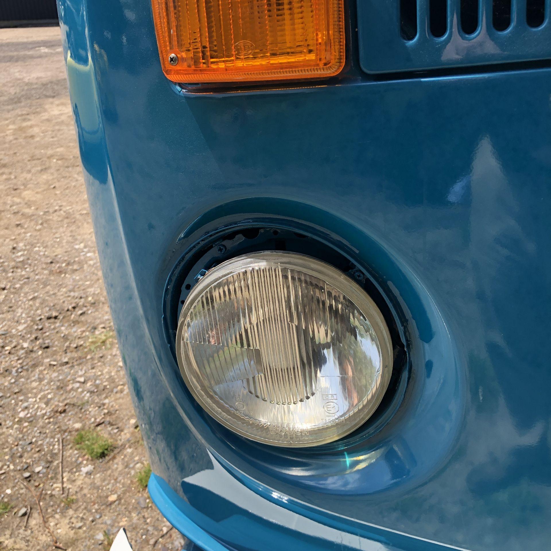 VW Microbus 8 Seater Caravanette Devon - 'Mr Blue' Petrol, Registration UMH 420S, First Registered - Image 37 of 47