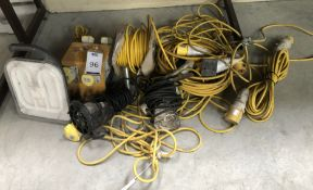 Quantity of 110v Cable, Junction Box etc (Location: Brentwood. Please Refer to General Notes)