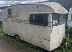 Cresta Classic Caravan For Restoration(c.1950's), Original Interior to Work With (Location: