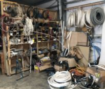 Cable, 110v Extension Leads, Roller Stand & Miscellaneous Items (Location: Bognor Regis. Please