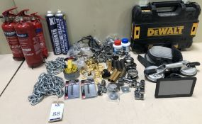 3 Fire Extinguishers, Chains & Miscellaneous items (Location: Brentwood. Please Refer to General