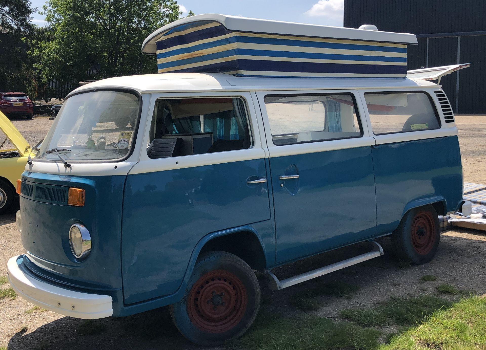 VW Microbus 8 Seater Caravanette Devon - 'Mr Blue' Petrol, Registration UMH 420S, First Registered - Image 14 of 47