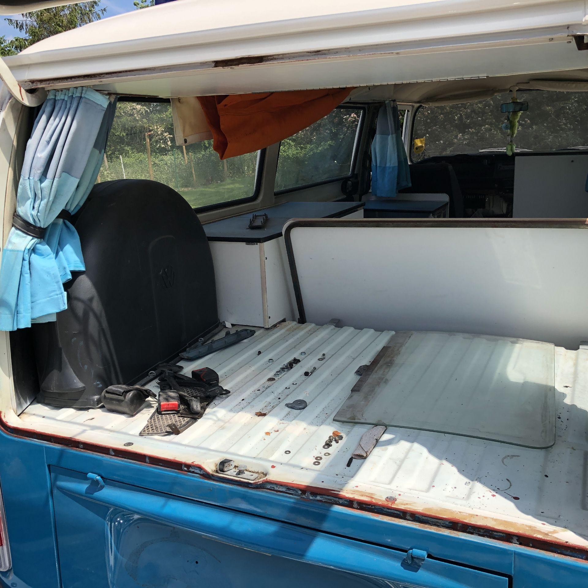 VW Microbus 8 Seater Caravanette Devon - 'Mr Blue' Petrol, Registration UMH 420S, First Registered - Image 23 of 47