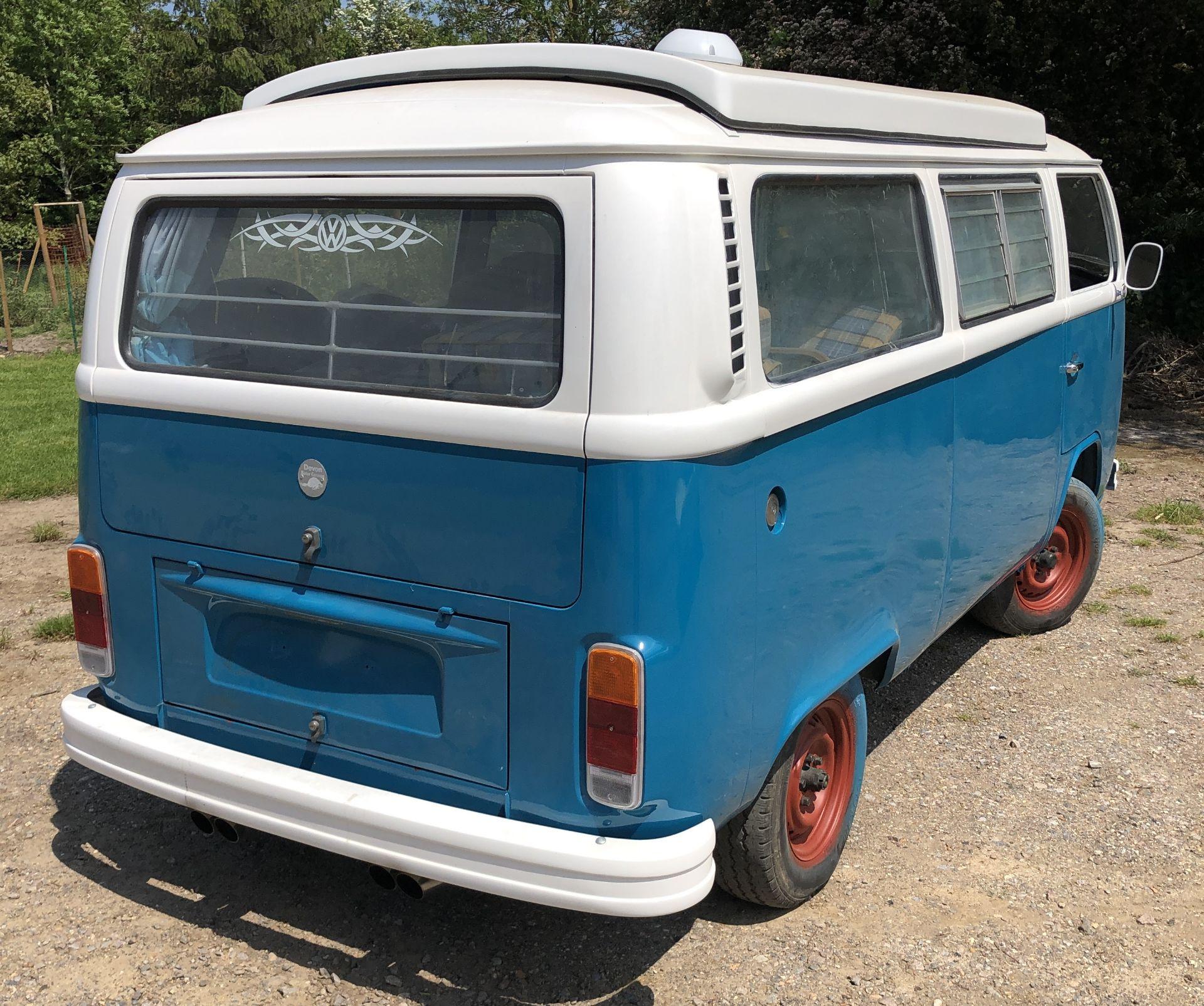 VW Microbus 8 Seater Caravanette Devon - 'Mr Blue' Petrol, Registration UMH 420S, First Registered - Image 8 of 47