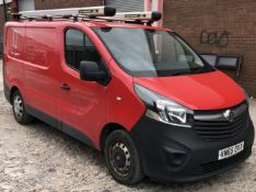 VAUXHALL VIVARO L1, 2700 1.6CDTI 90PS ecoFLEX H1 Panel Van, fitted with 2 Van Guard Roof Boxes &