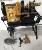REMS Magnum Type 4000 Pipe Threader, Serial Number 38411645 on Wheeled Stand (Location: Brentwood.