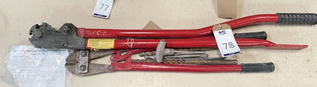 """Super Type NK Threaded Rod Cutter and 24"""" Bolt Croppers (Location: Brentwood. Please Refer to"""