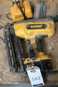 DeWalt XRP Rechargeable Nail Gun & Charger (Location: Bognor Regis. Please Refer to General Notes)