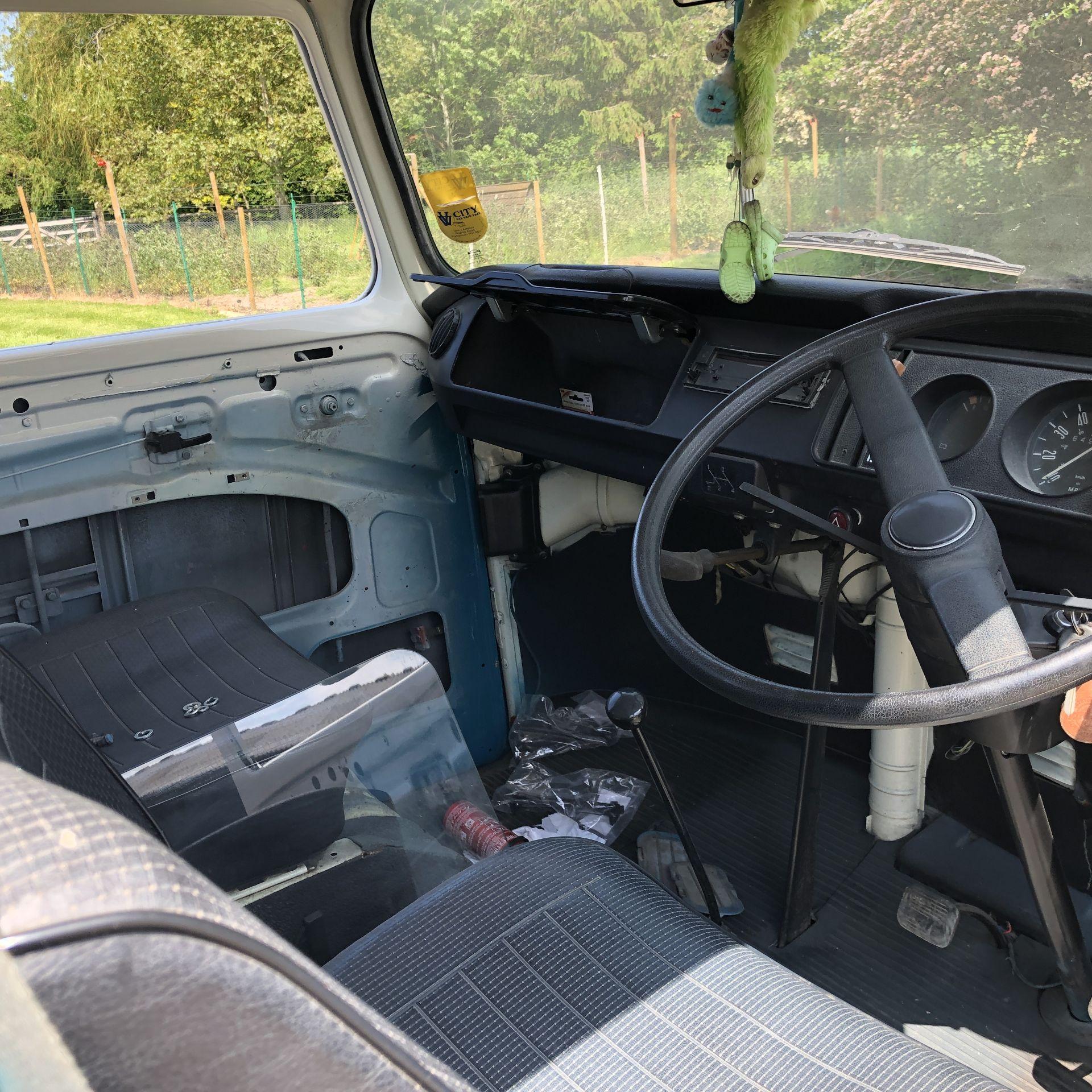 VW Microbus 8 Seater Caravanette Devon - 'Mr Blue' Petrol, Registration UMH 420S, First Registered - Image 31 of 47