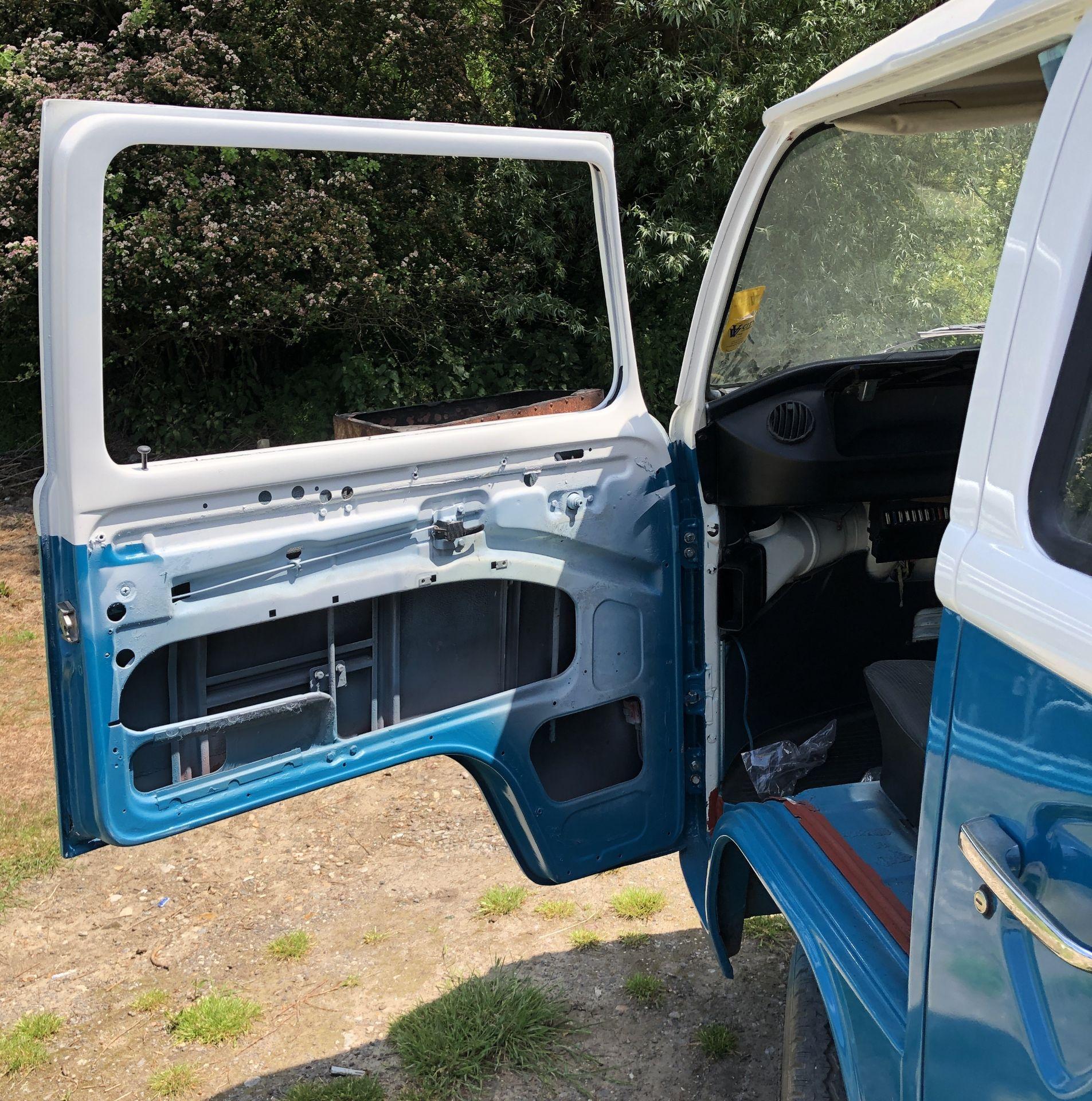 VW Microbus 8 Seater Caravanette Devon - 'Mr Blue' Petrol, Registration UMH 420S, First Registered - Image 15 of 47