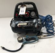"""Sip """"Airmate Hurricane"""" Type Six Mini Compressor, Serial Number 9028333, 16 Bar with Erbauer Tyre"""