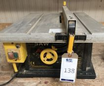Pro CLM 1400TS/1400W Bench Top Table Saw, 240v (Location: Bognor Regis. Please Refer to General
