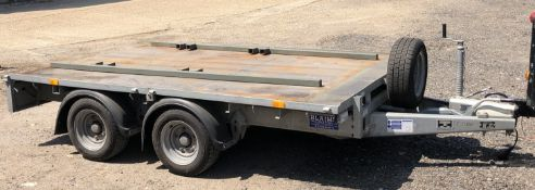 Ifor Williams Type DB S350 Twin Axle Flat Trailer, Serial Number 05115306 (2015), GVW 3500Kg; 10'