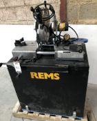 REMS 252046 Plastic Pipe Butt Fusion Welder (2019) Serial Number 191500149 on Cabinet/Stand (