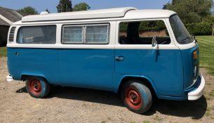 VW Microbus 8 Seater Caravanette Devon - 'Mr Blue' Petrol, Registration UMH 420S, First Registered