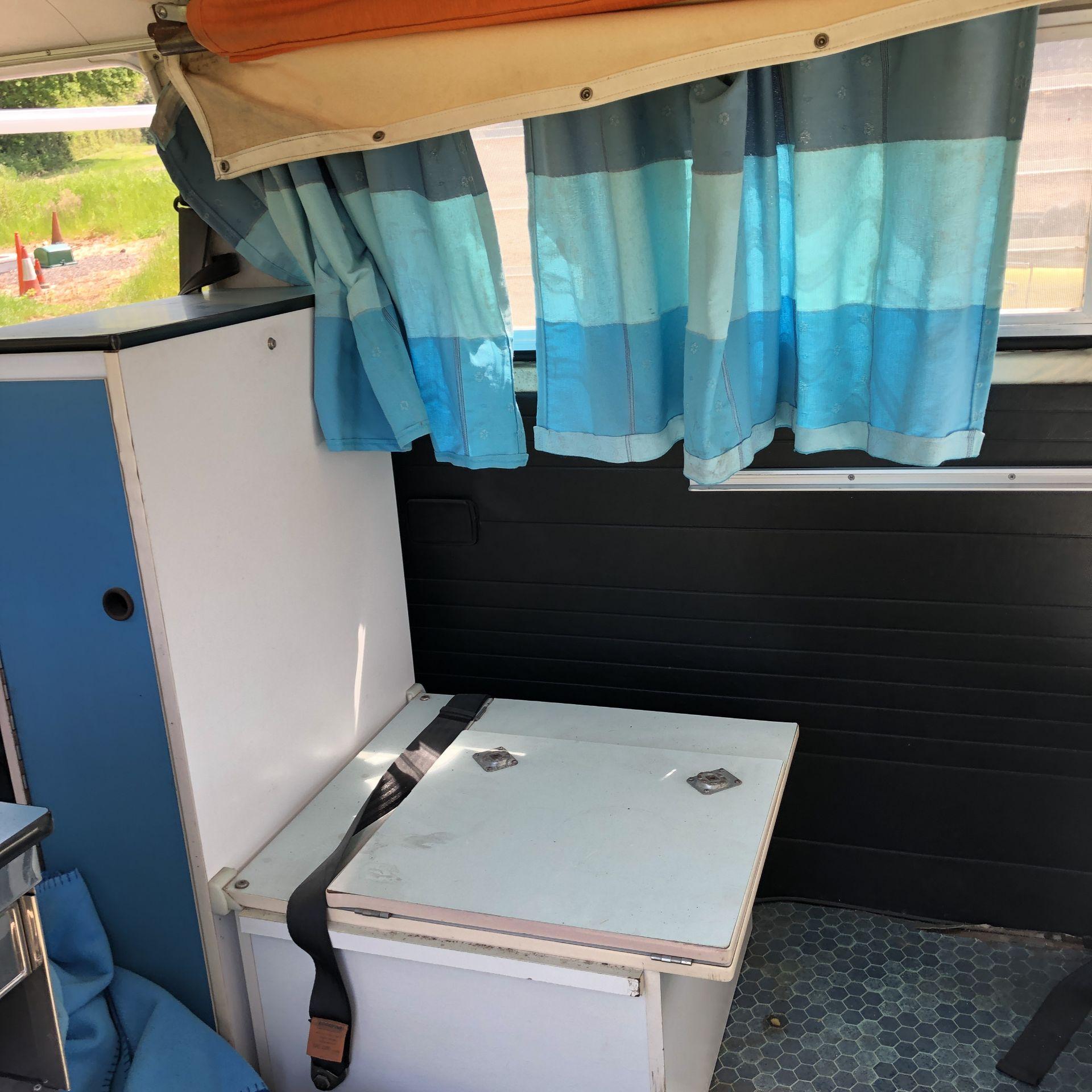 VW Microbus 8 Seater Caravanette Devon - 'Mr Blue' Petrol, Registration UMH 420S, First Registered - Image 26 of 47