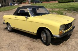 Rare Right Hand Drive Peugeot 304 Convertible, Registration OPC 913L, First Registered 2nd
