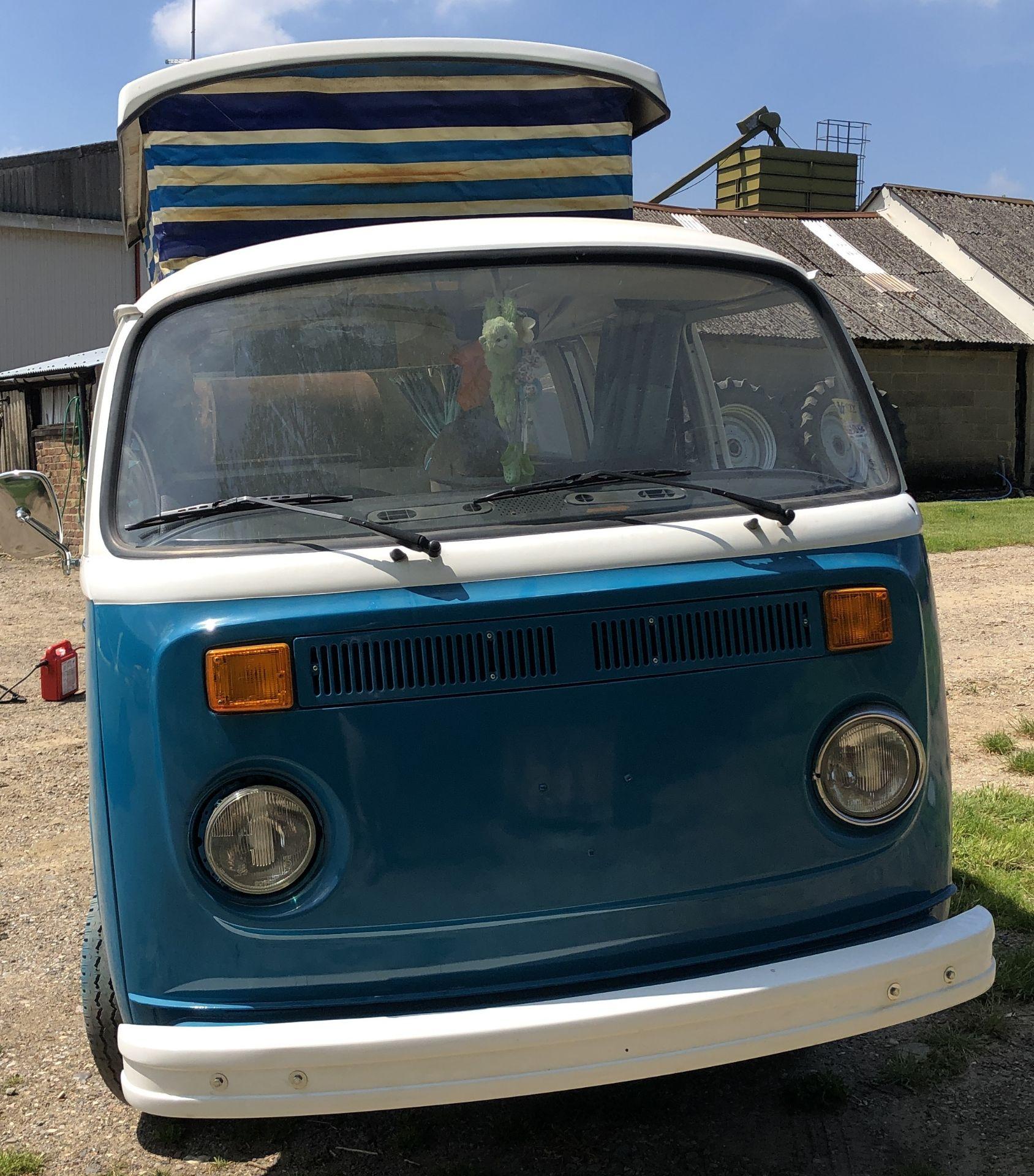 VW Microbus 8 Seater Caravanette Devon - 'Mr Blue' Petrol, Registration UMH 420S, First Registered - Image 12 of 47
