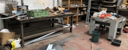 4 Steel Workbenches & Contents (Location: Swinton. Please Refer to General Notes)