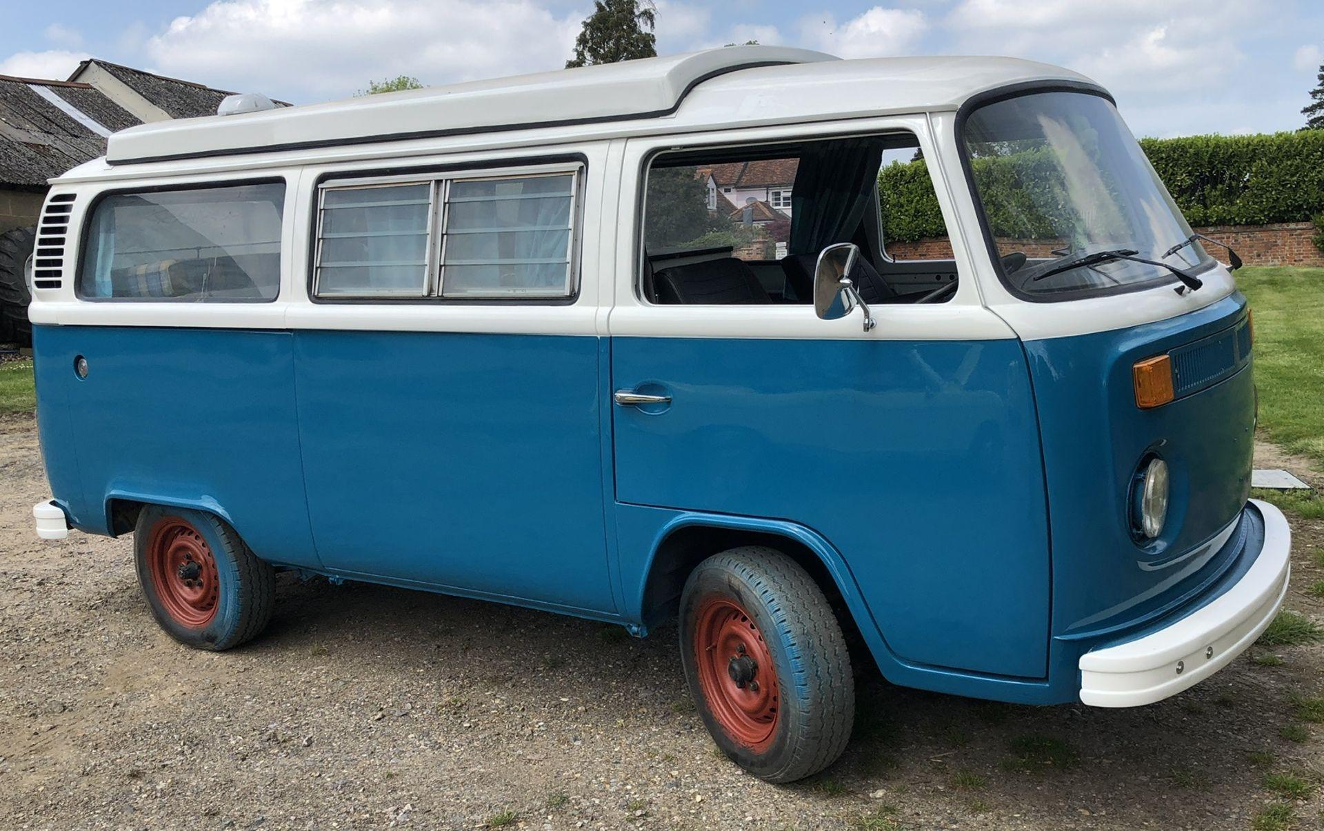 VW Microbus 8 Seater Caravanette Devon - 'Mr Blue' Petrol, Registration UMH 420S, First Registered - Image 16 of 47