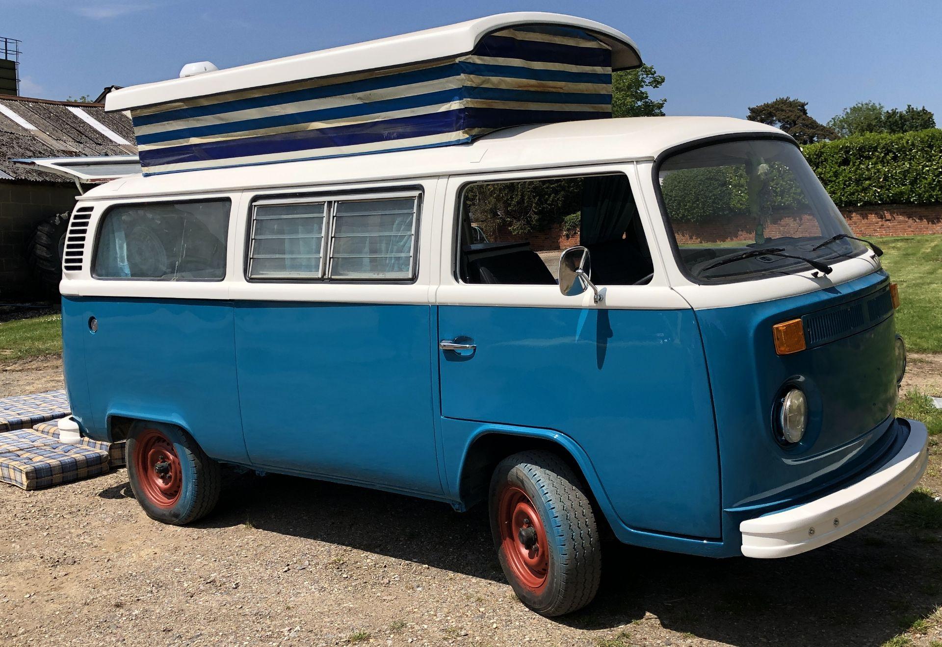 VW Microbus 8 Seater Caravanette Devon - 'Mr Blue' Petrol, Registration UMH 420S, First Registered - Image 11 of 47