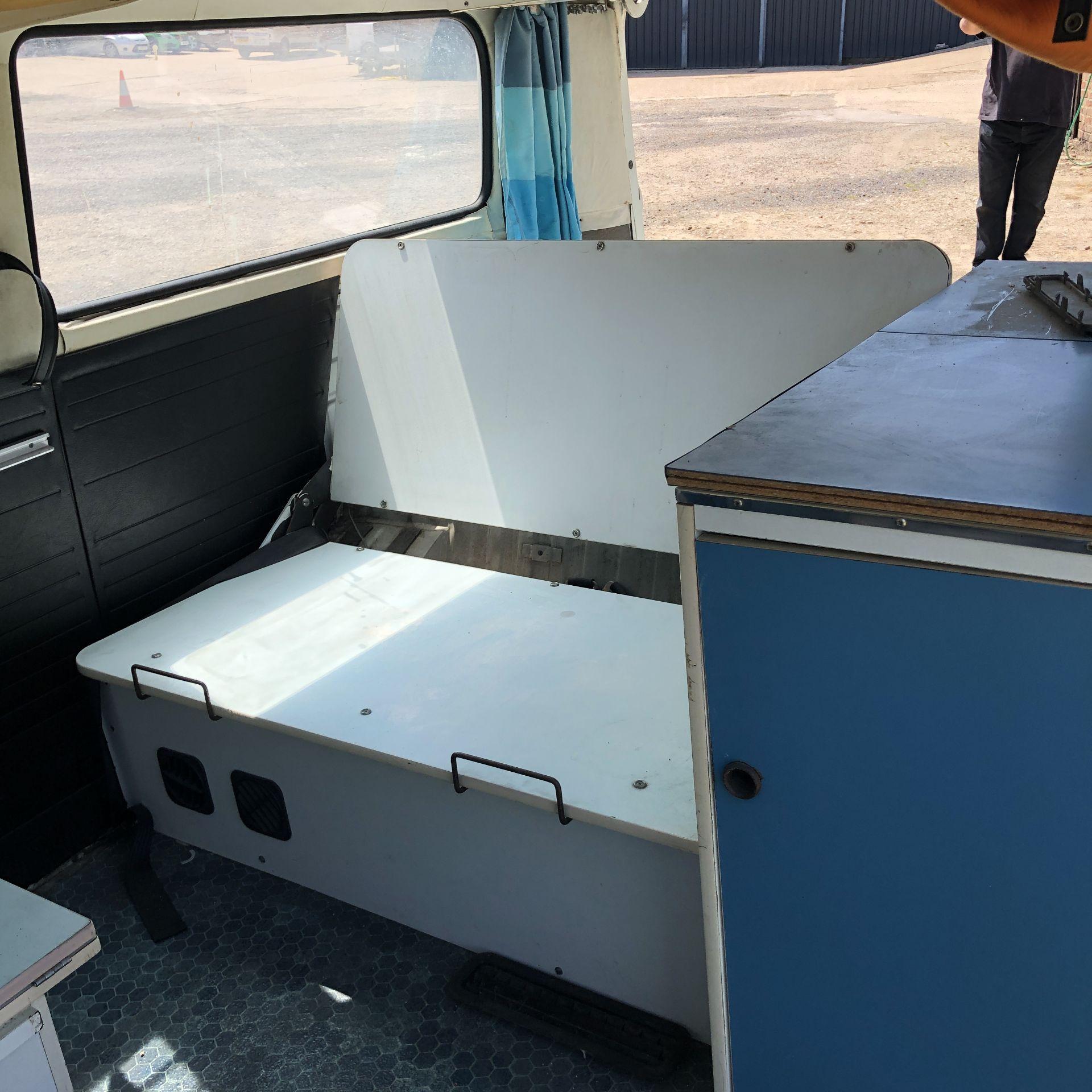 VW Microbus 8 Seater Caravanette Devon - 'Mr Blue' Petrol, Registration UMH 420S, First Registered - Image 24 of 47