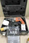 AEG BH 22 E Hammer Drill, 110v (Location: Brentwood. Please Refer to General Notes)
