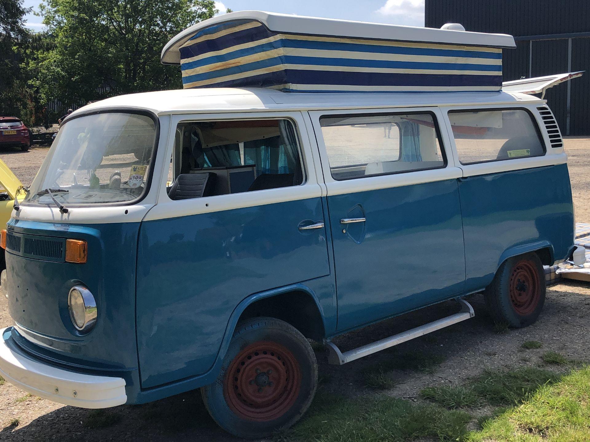VW Microbus 8 Seater Caravanette Devon - 'Mr Blue' Petrol, Registration UMH 420S, First Registered - Image 13 of 47